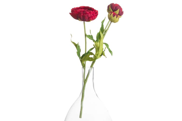 Hill Interiors Artificial Peony (Red) (One Size)