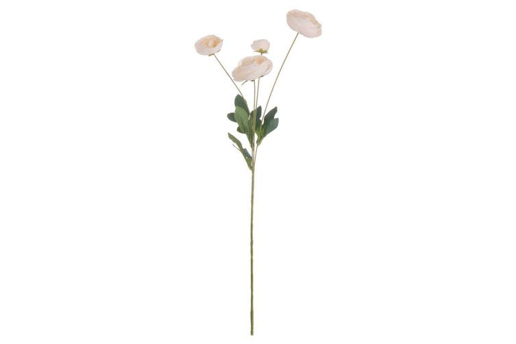 Hill Interiors Artificial Single Stem Ranunculus (Cream) (One Size)