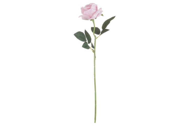 Hill Interiors Artificial Single Stem Tea Rose (Pastel Pink) (53cm)