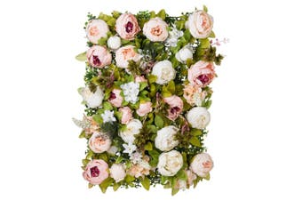 Hill Interiors Artificial Peony Flower Wall (Multicoloured) (One Size)
