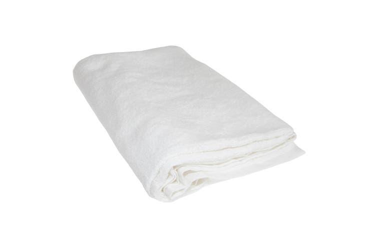 Plain White Bath Towel (White) (H150xW100cm)