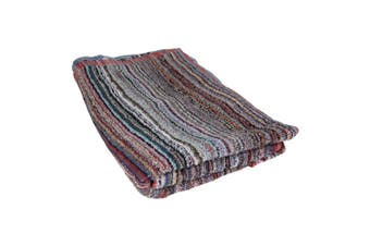 Striped Beach Towel (Red/Multicoloured) (One Size)