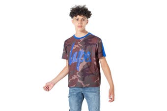 Hype Childrens/Kids Northern Camo T-Shirt (Brown/Khaki/Blue) - UTHY1319