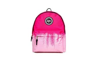 Hype Unisex Half Drips Backpack (Pink) (One Size)