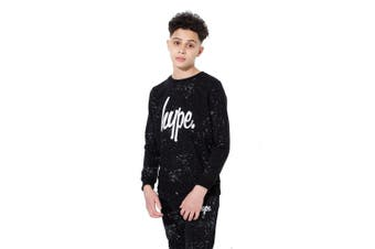 Hype Childrens/Kids Aop Speckle Crewneck Shirt (Black) - UTHY150