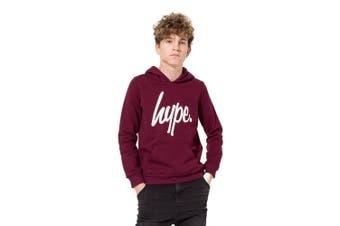 Hype Childrens/Kids Pullover Hoodie (Burgundy) - UTHY1562