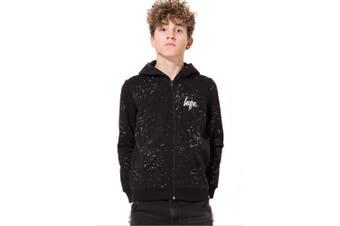 Hype Childrens/Kids Aop Speckle Zip Jacket (Black) - UTHY167