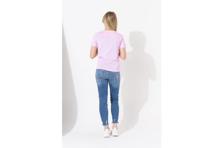 Hype Childrens/Kids Script T-Shirt (Pink) (13 Years)