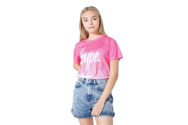 Hype Childrens/Kids Speckle Fade T-shirt (Pink/White) (11-12 Years)