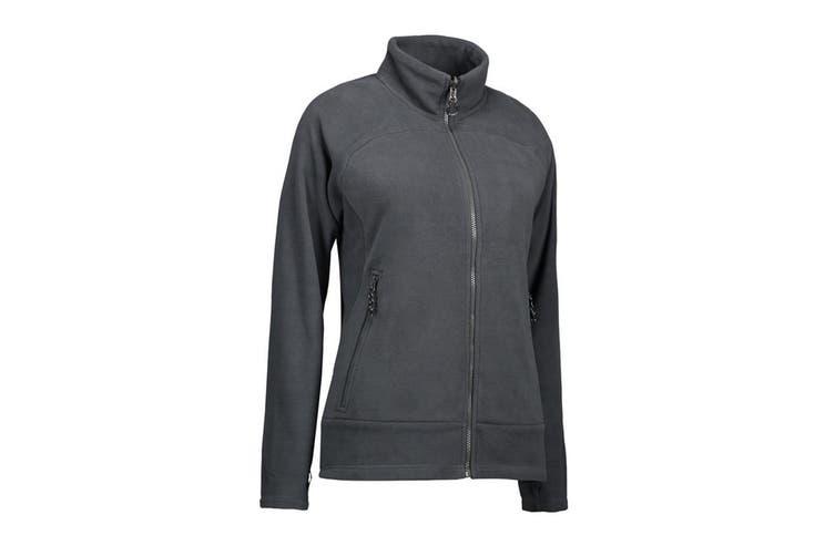 ID Womens/Ladies Zip N Mix Active Fleece Jacket (Grey) (XL)