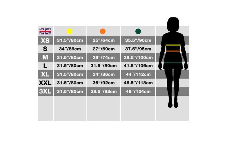 ID Womens/Ladies Zip N Mix Active Fleece Jacket (Grey) (2XL)