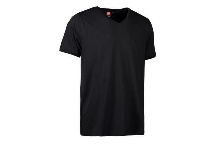 ID Mens Pro Wear Care V-Neck T-Shirt (Black) (2XL)