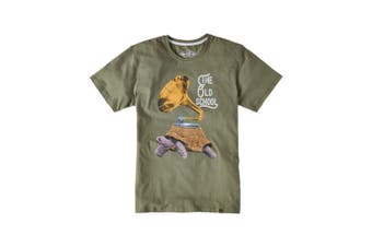 Joe Browns Mens The Old School Vintage Gramophone Graphic T-Shirt (Green) - UTJB105