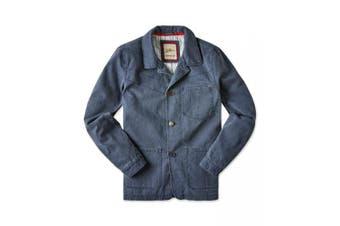 Joe Browns Mens Laid Back Summer Denim Jacket (Blue/Grey) - UTJB109