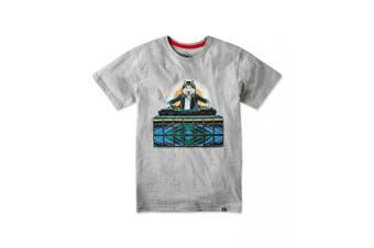 Joe Browns Mens DJ Wolf Graphic T-Shirt (Grey Marl) - UTJB113