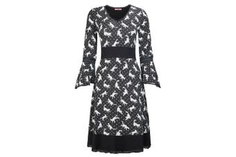Joe Browns Womens/Ladies Cat Print Dress (Black/White) - UTJB122