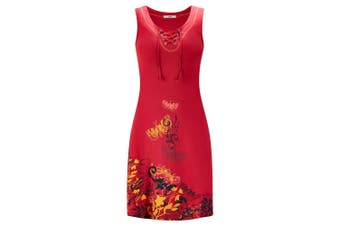 Joe Browns Womens/Ladies Butterfly Print Jersey Tunic Dress (Red) - UTJB124