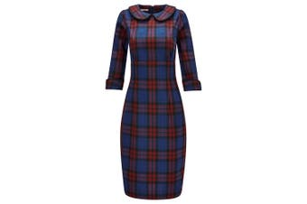 Joe Browns Womens/Ladies Bright and Funky Check Print Dress (Blue) - UTJB125
