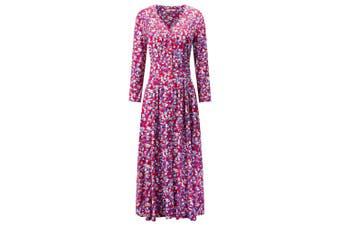 Joe Browns Womens/Ladies Bright Floral Button Through Midi Dress (Red/Multicoloured) - UTJB131