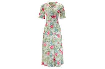 Joe Browns Womens/Ladies Button Through Floral Shirt Dress (Cream/Multicoloured) - UTJB134