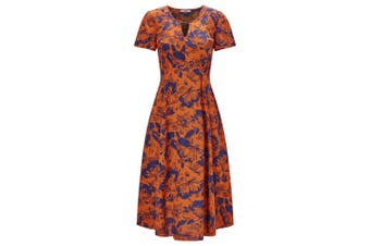 Joe Browns Womens/Ladies  Bright Florals Abstract Print Dress (Orange) - UTJB136