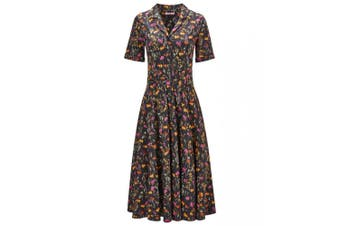Joe Browns Womens/Ladies Floral Shirt Dress (Black) - UTJB140