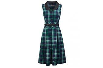 Joe Browns Womens/Ladies Vintage Check Print Button Up Dress (Green Check) - UTJB142
