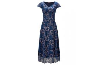 Joe Browns Womens/Ladies Floral Cap Sleeve Dress (Blue) - UTJB156