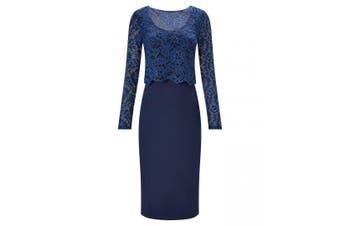 Joe Browns Womens/Ladies Jersey Bodycon Lace Dress (Blue) - UTJB160