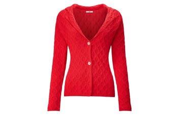 Joe Browns Womens/Ladies Chunky Textured Knit Cardigan (Red) - UTJB176