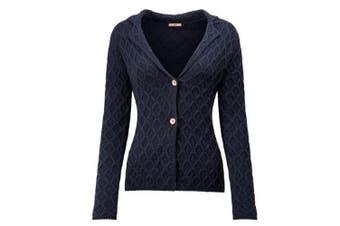Joe Browns Womens/Ladies Chunky Textured Knit Cardigan (Navy) - UTJB176