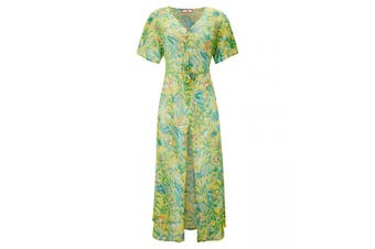 Joe Browns Womens/Ladies Floral Knot Front Beach Cover Up Dress (Green) - UTJB236