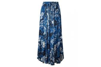 Joe Browns Womens/Ladies Tie Dye Floral Print Midi Skirt (Blue) - UTJB260