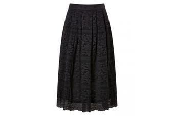 Joe Browns Womens/Ladies Layered Floral Lace Midi Skirt (Black) - UTJB267