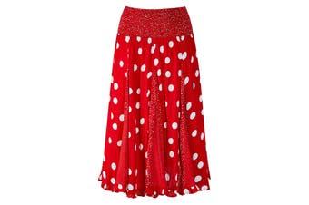 Joe Browns Womens/Ladies Polka Dotty Godet Skirt (Red/White) - UTJB387