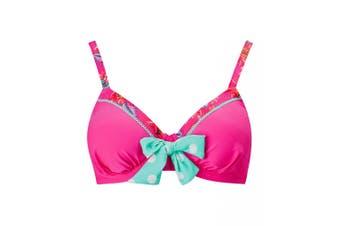 Joe Browns Womens/Ladies Patterned Mix and Match Bikini Top (Pink) - UTJB563