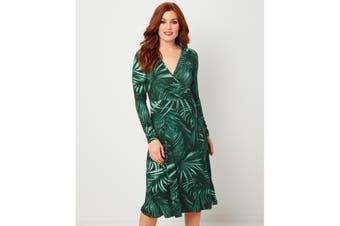 Joe Browns Womens/Ladies Tropical Palm Leaf Print Wrap Dress (Green) - UTJB604