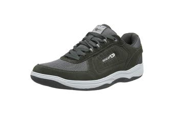 Gola Mens Belmont Suede Leather Wide Fit Trainer (Charcoal) (13 UK)