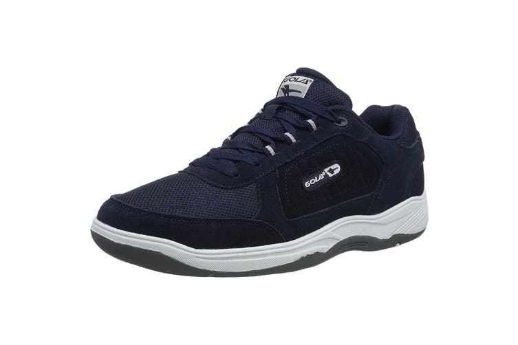 Gola Mens Belmont Suede Leather Wide Fit Trainer (Navy) (15 UK)