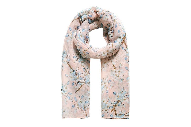 Jewelcity Womens/Ladies Cherry Blossom Print Scarf (Pink) (One Size)