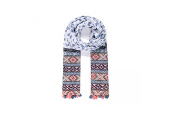 Intrigue Womens/Ladies Elephant Print Scarf (Blue) (One Size)