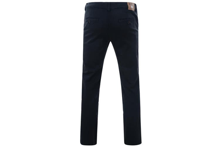 Kam Jeanswear Mens Stretch Chinos (Navy) (40R)