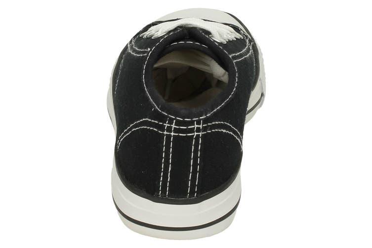Spot On Childrens/Kids Low Cut Canvas Lace Up Shoes (Black) (6 UK Infant)