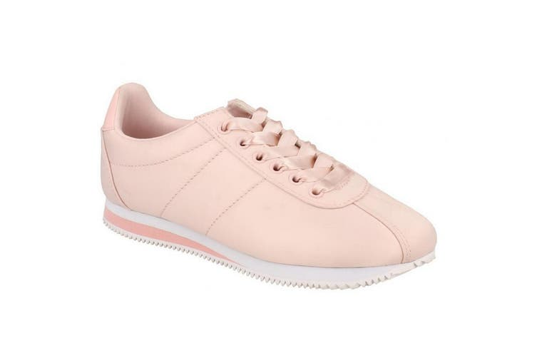 Reflex Womens/Ladies Low Wedge Lace Up Pumps (Pink) (UK Size 6)