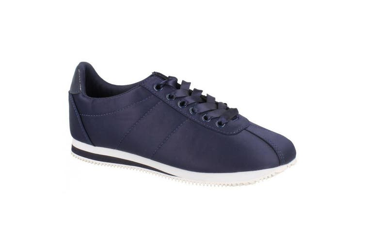 Reflex Womens/Ladies Low Wedge Lace Up Pumps (Navy) (UK Size 7)