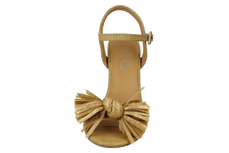 Spot On Womens/Ladies Chunky Heel Fringe Bow Sandal (Camel) (6 UK)