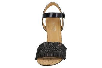 Spot On Womens/Ladies Chunky Heel Sandals (Black) (6 UK)