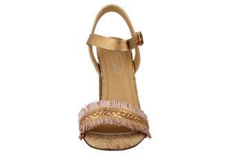 Spot On Womens/Ladies Chunky Heel Sandals (Rose Gold) (6 UK)