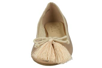 Spot On Womens/Ladies Flat Ballerinas With Tassel Bow (Rose Gold) - UTKM772