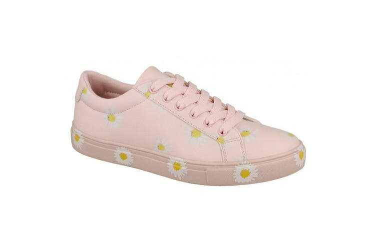 Spot On Womens/Ladies Daisy Print Pumps (Pink) (7 UK)